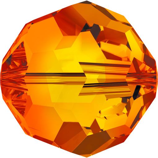 Swarovski 5000 6mm FACETED ROUND Bead - Fire Opal