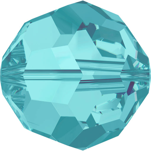 Swarovski 5000 8mm FACETED ROUND Bead - Light Turquoise