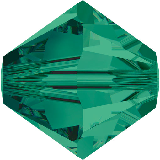 Swarovski 5328 8mm BICONE Bead - Emerald