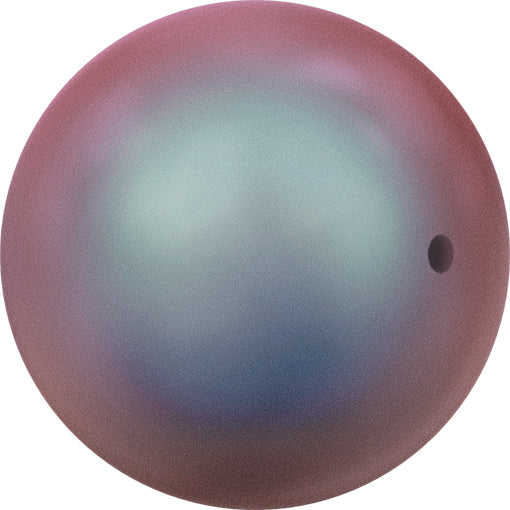 Swarovski 5810 10mm Round Pearls - Iridescent Red