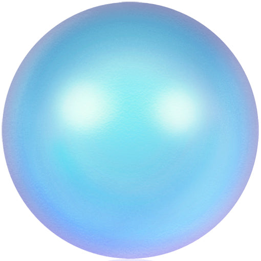 Swarovski 5810 10mm Round Pearls - Iridescent Light Blue