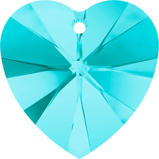 Swarovski 6228 14.4mm x 14mm XILION HEART Pendant - Light Turquoise