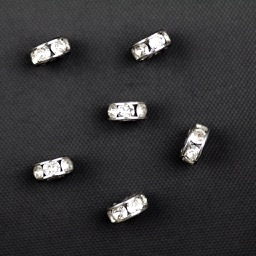 Swarovski 77506 PP20 Rondelle Spacer - Crystal in Rhodium