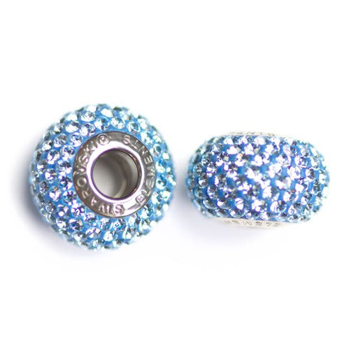 Swarovski 80101 14mm x 9.3mm Becharme Pave´ Beads - Aquamarine