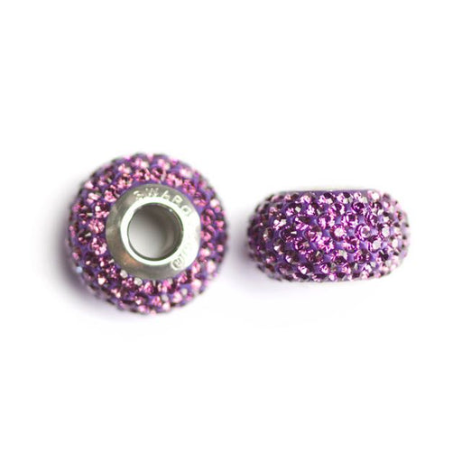 Swarovski 80101 14mm x 9.3mm Becharmed Pave´ Beads - Amethyst