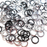 20awg (0.8mm) 7/64in. (2.8mm) ID 3.6AR Anodized  Aluminum Jump Rings - Midnight Mix