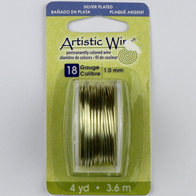 3.6 meters (4 yards) - 18 gauge (1.0mm) Permanently Coloured Wire - Champagne