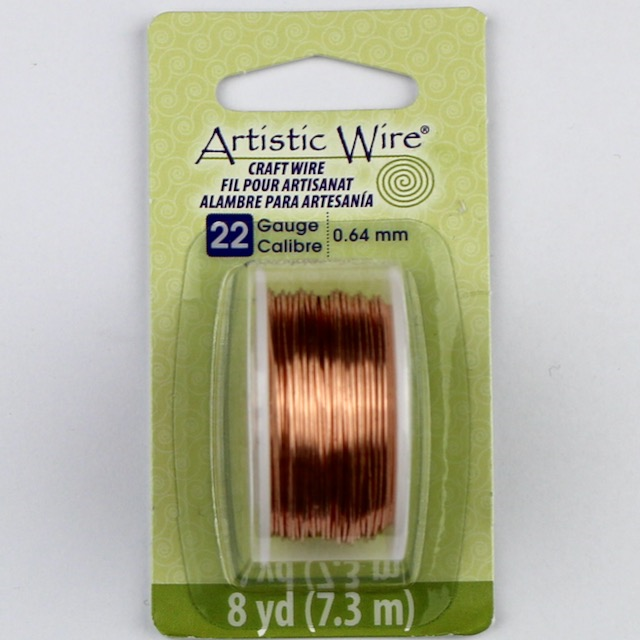 7.3 meters (8 yards) - 22 gauge (.64 mm) Craft Wire - Bare Copper