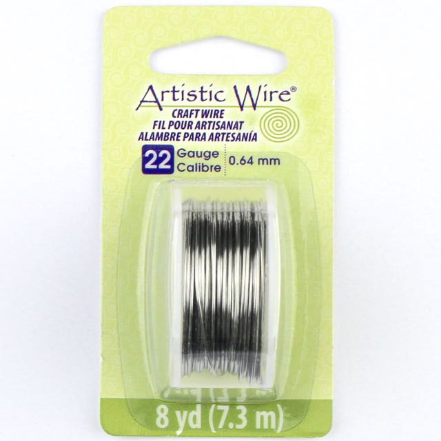7.3 meters (8 yards) - 22 gauge (.64 mm) Craft Wire - Stainless Steel