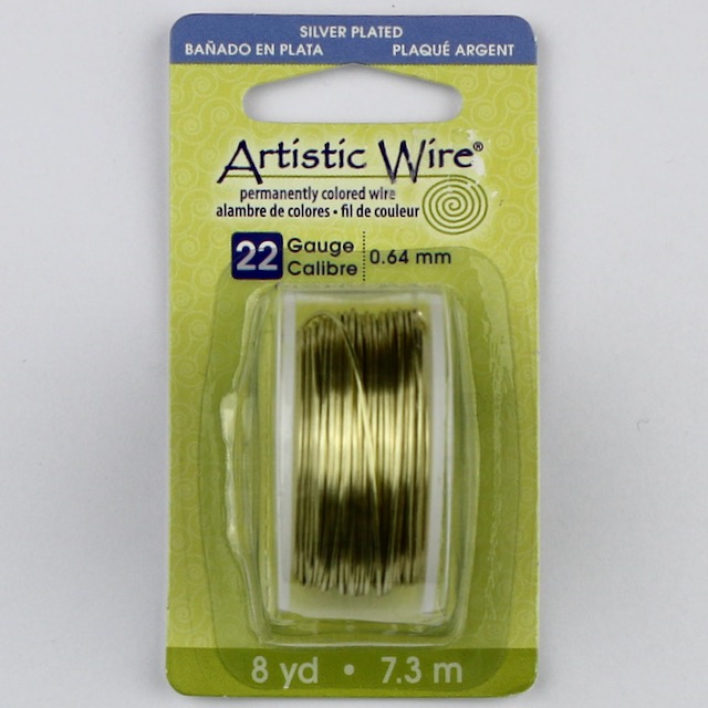 7.3 meters (8 yards) - 22 gauge (.64 mm) Permanently Coloured Wire - Champagne
