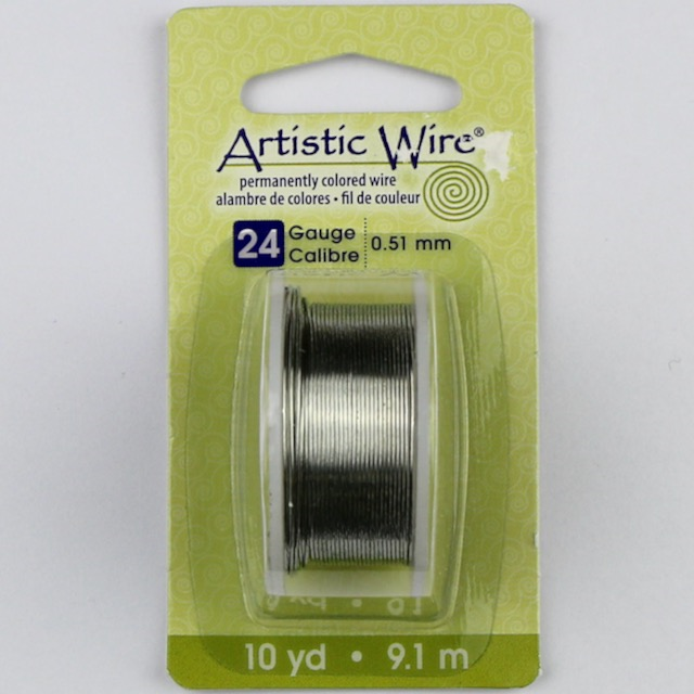 9.1 meters (10 yards) - 24 gauge (.51 mm) Craft Wire - Tinned Copper