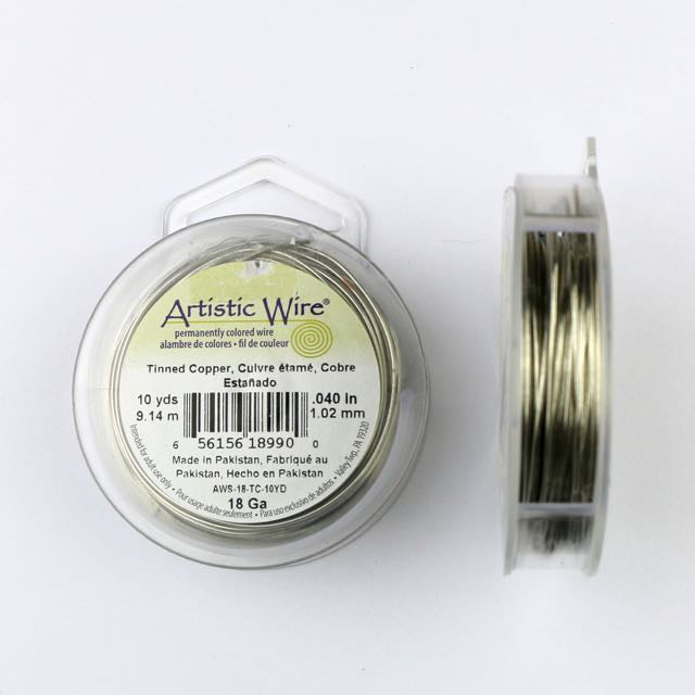 9.14 meters (10 yards) - 18 gauge (1.02mm) Permanently Coloured Wire - Tinned Copper