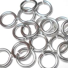 16swg (1.6mm) 5/32in. (4.2mm) ID 2.6AR Bright Aluminum Jump Rings