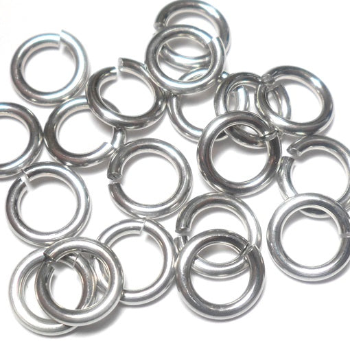 16swg (1.6mm) 7/32in. (5.7mm) ID 3.6AR Bright Aluminum Jump Rings