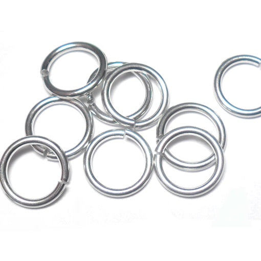 18swg (1.2mm) 1/4in. (6.7mm) ID 5.6AR Bright Aluminum Jump Rings