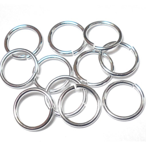 18swg (1.2mm) 27/64in. (11.9mm) ID 9.9AR Bright Aluminum  Jump Rings