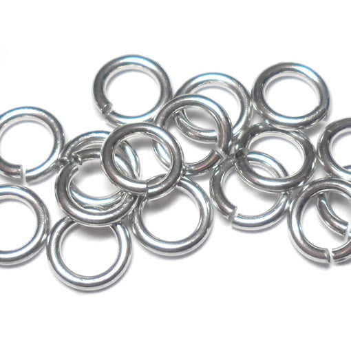 18swg (1.2mm) 5/32in. (4.1mm) ID 3.4AR Bright Aluminum Jump Rings