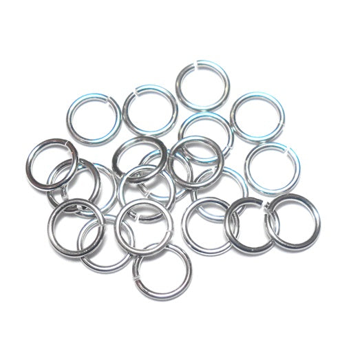 20awg (.8mm) 11/64in. (4.8mm) ID 6.1AR Bright Aluminum Jump Rings