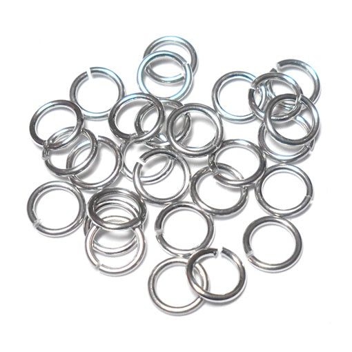 20awg (.8mm) 19/128in. (4.0mm) ID 5.1AR  Bright Aluminum Jump Rings