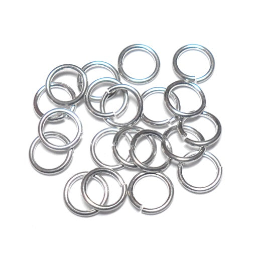 20awg (.8mm) 21/128in. (4.5mm) ID 5.7AR Bright Aluminum Jump Rings