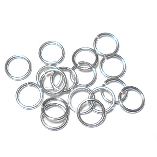 20awg (.8mm) 23/128in. (4.9mm) ID 6.3AR Bright Aluminum Jump Rings