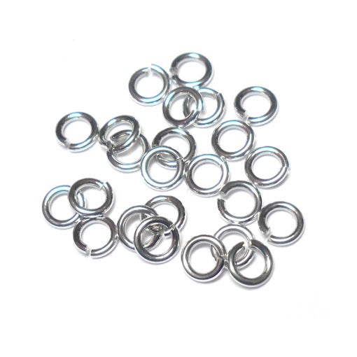 20awg (.8mm) 3/32in.(2.4mm) ID 3.1AR Bright Aluminum Jump Rings