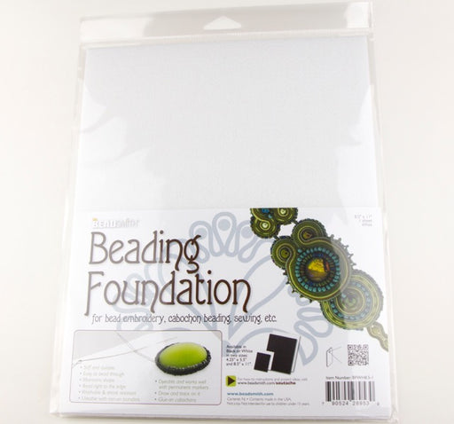 8.5x11inch Bead Smith Beading Foundation - White