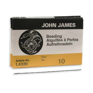 #10 John James Long Beading Needles (Pack of 25)