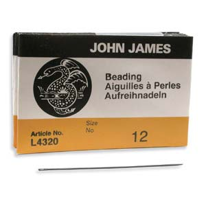 #12 John James Beading Needles for Most Beadwork (Pack of 25)
