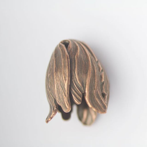 20mm x 17mm Tulip Bead Cap - Copper