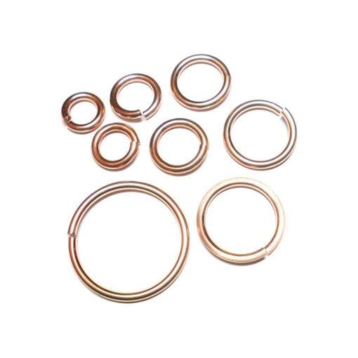 16swg (1.6mm) 7/16in. (12.1mm) ID 7.6AR Bronze Jump Rings