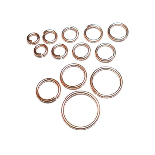 18swg (1.2mm) 1/8in. (3.3mm) ID 2.8AR Bronze Jump Rings