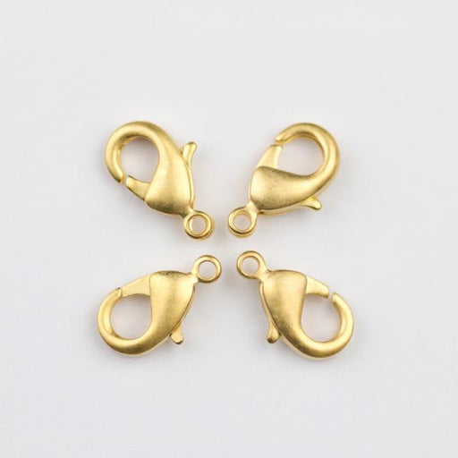 12mm x 7mm Lobster Claw Clasp - Satin Hamilton Gold