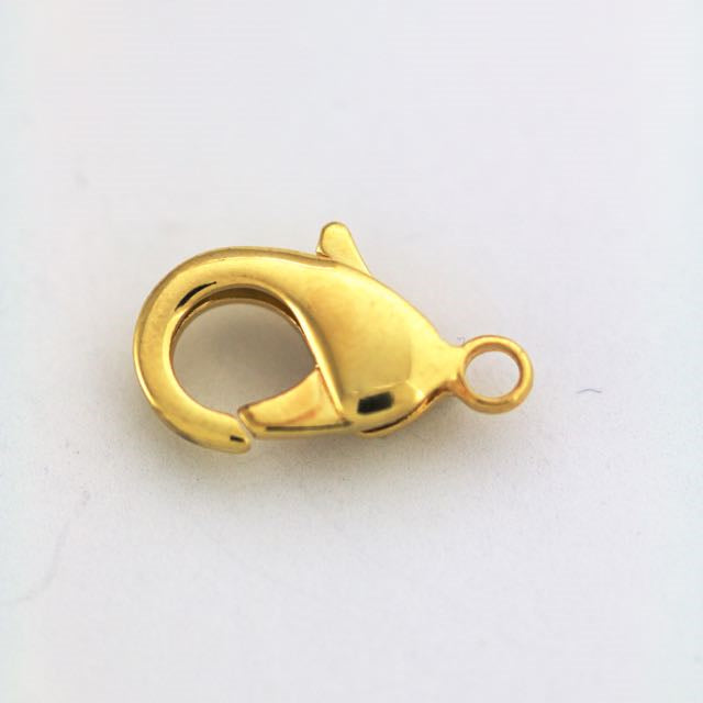 19mm x 10mm Lobster Claw Clasp - Gold