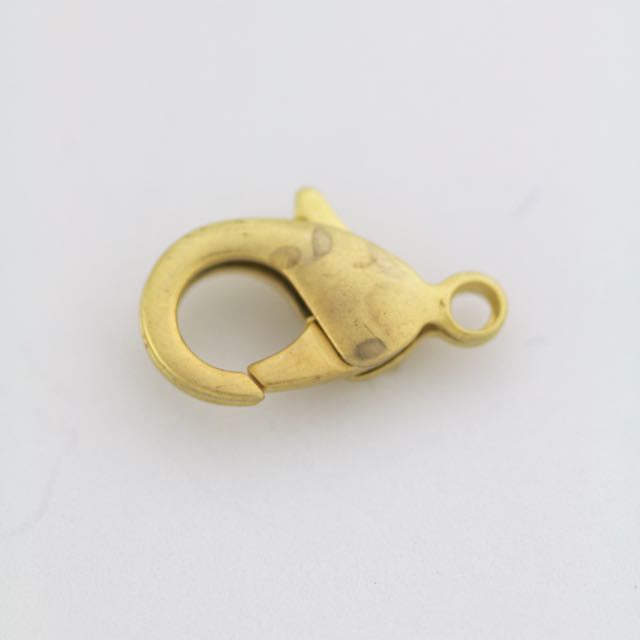 19mm x 10mm Lobster Claw Clasp - Satin Hamilton Gold