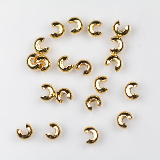 3mm Crimp Bead Cover - Gold