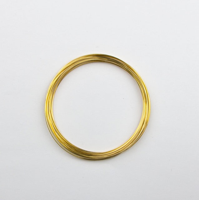 2 1/4 inch 12 Loop Bracelet Memory Wire - Gold
