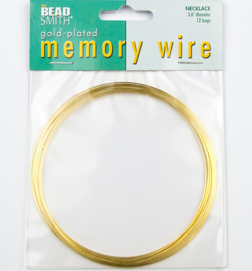 3.6 inch 12 Loop Gold Plated Memory Wire