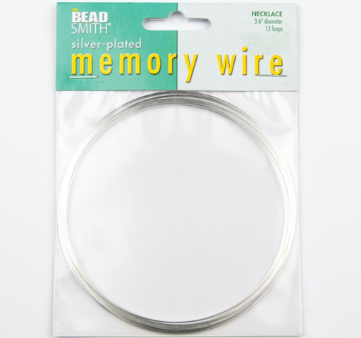 3.6 inch 12 Loop Silver Plated Memory Wire
