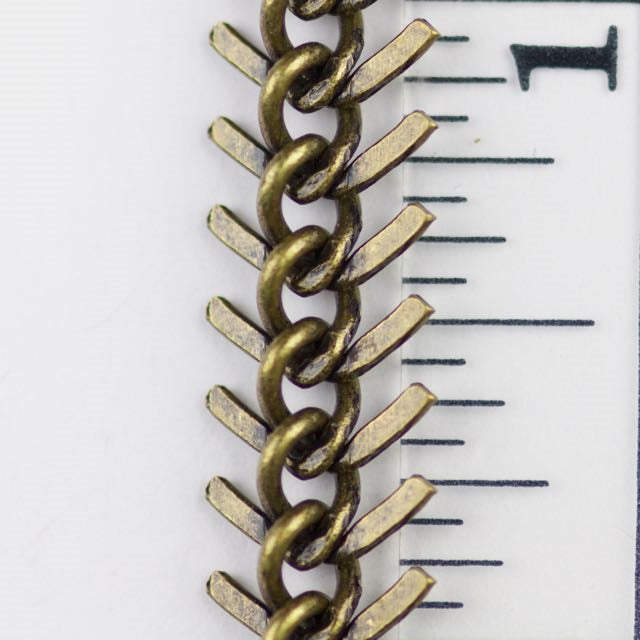 9mm Fishbone Chain - Antique Brass
