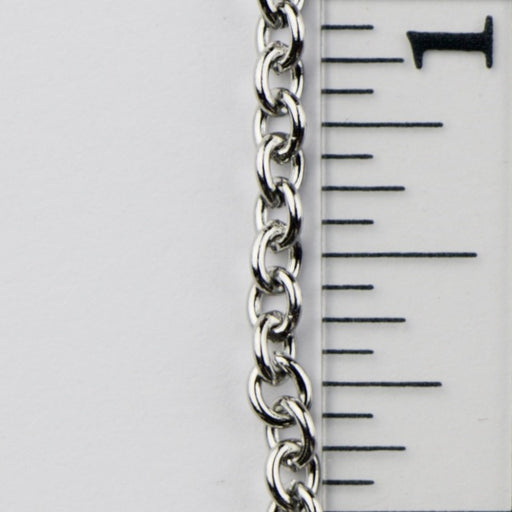 3.7mm x 3mm Cable Chain - Stainless Steel
