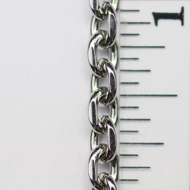 6mm x 4.5mm Faceted Cable Chain - Stainless Steel