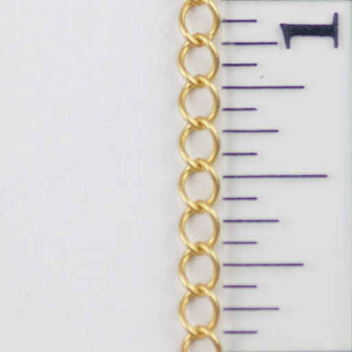 4mm Delicate Curb Chain - Satin Hamilton Gold