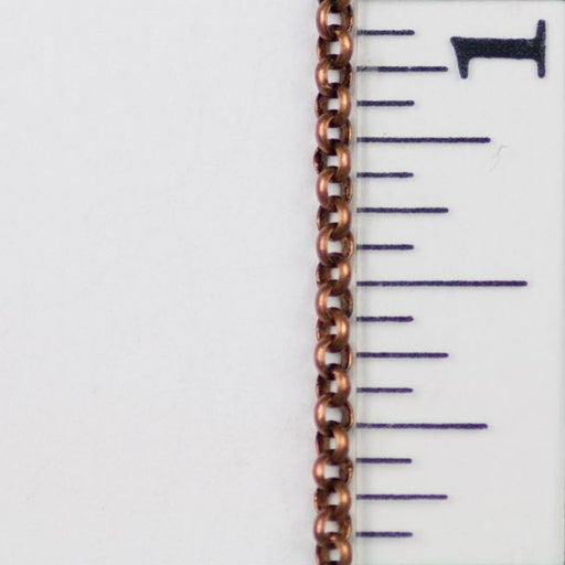 2mm Delicate Rolo Chain - Antique Copper