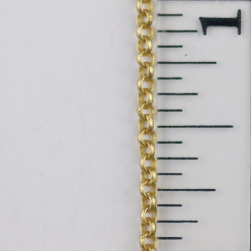 2mm Delicate Rolo Chain - Satin Hamilton Gold