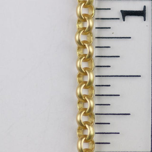 3.5mm Rolo Chain (inside diameter 2.25mm) - Satin Hamilton Gold