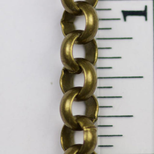 7mm Rolo Chain (inside diameter 4.8mm) - Antique Brass