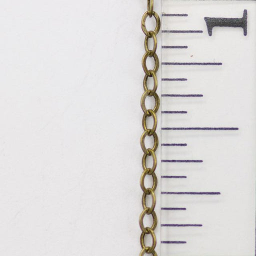 2mm x 1mm Delicate Cable Chain - Antque Brass