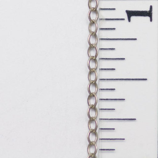 2mm x 1mm Delicate Cable Chain - Antique Silver