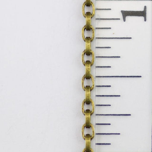 2.5 x 3.5mm Square Wire Cable Chain - Antique Brass